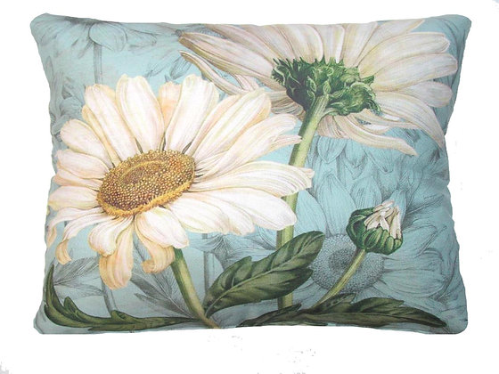 MM Pillow, White Daisies, TC509LCS, 18x18