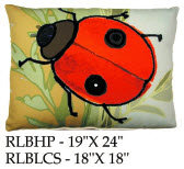 Ladybug Pillow, RLB, 2 sizes