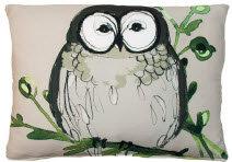 TB Pillow, Owl, RROGBLCS, 18x18