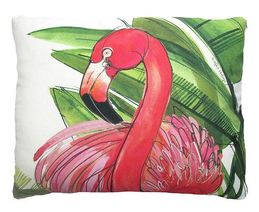 Pink Flamingo Pillow, RR707, 2 sizes