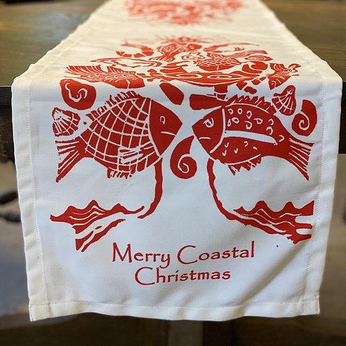 "Merry Coastal Christmas Table Runner, AK801RNR, 14""x 60"""