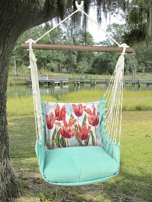 Seafoam Swing Set w/ Tulips Pillow, SFTC704-SP