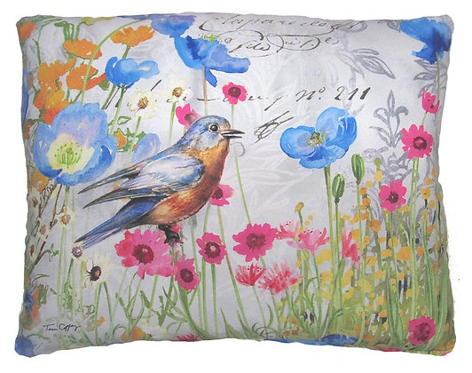 Red Breasted Robin Pillow, TC202, 2 sizes