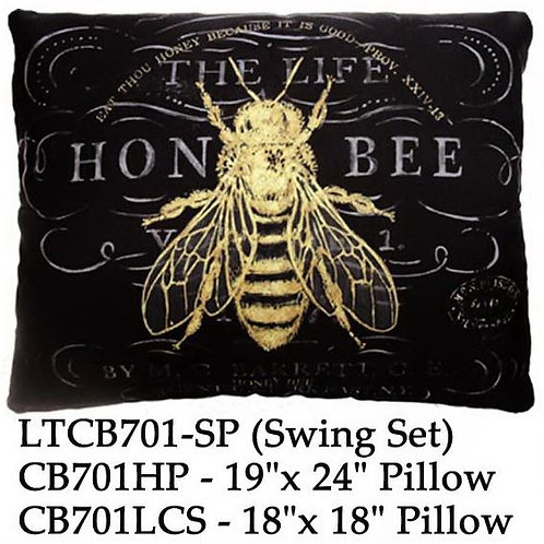 Honey Bee on Black, CB701 2 sizes