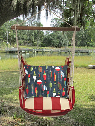 Lures Pillow on Americana Stripe, AMSN201-SP