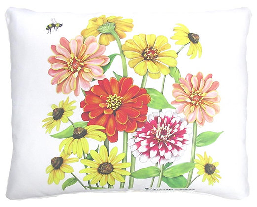Zinnias Pillow, MLT906, 2 sizes available