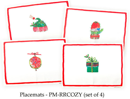 Cozy Christmas Placemats, set of 4, PM-RRCOZY,