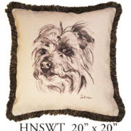 Terrier Pillow, 20x20, HNSWT