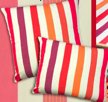 Cristina Stripe Fabric Pillow, CR250CL, 24x24