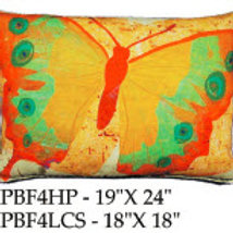Butterfly Pillow, PBF4, 2 sizes