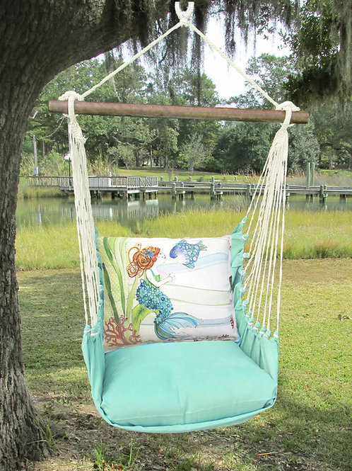 Seafoam Swing Set w/ Mermaid, SFRR702-SP
