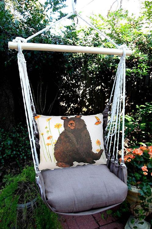 CH Swing Set w/ Brown Bear Pillow, CHRR506-SP