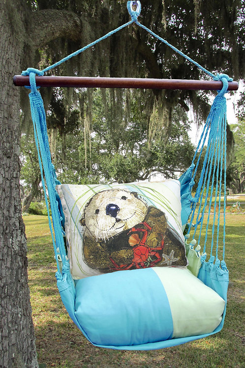 MM Swing Set w/ Sea Otter Pillow, MMSW710-SP