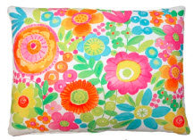 LJ Pillow, Bright Flowers, BC504HP, 19x24