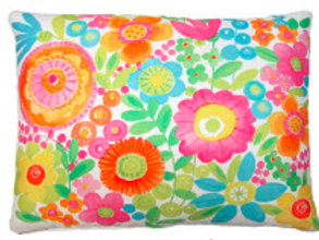 Bright Flowers Pillow, BC504, 2 sizes