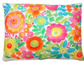 LJ Pillow, Bright Flowers, BC504HP, 19x24