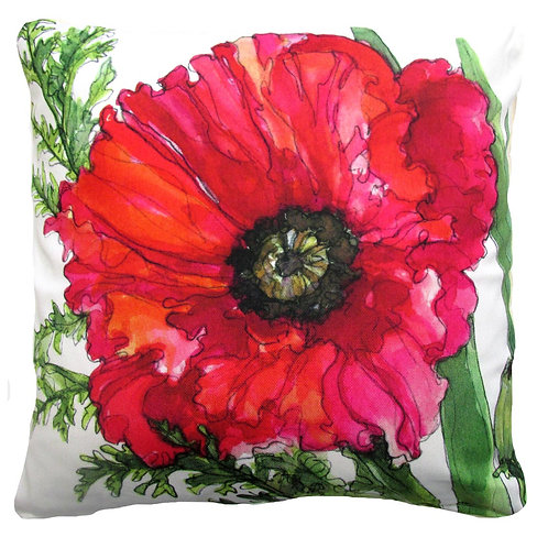 Red Poppy, SR705LCS, 18x18 only