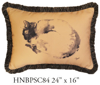 Cat Pillow, 24x16, HNBPSC84