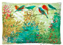 Birds on a Wire Pillow, TCBW, 2 sizes