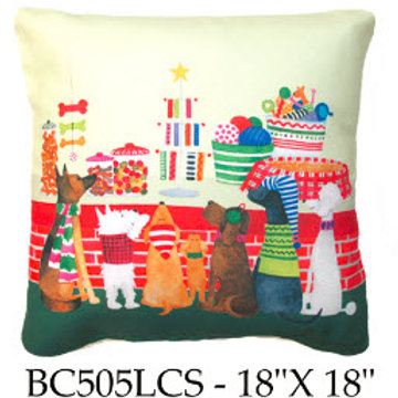 Christmas Dogs, BC505 LCS, 18x18