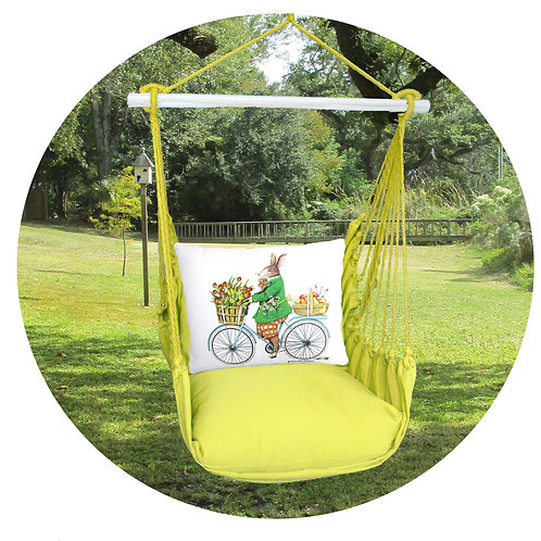 Lime Swing Set w/ Rabbit Pillow, LMMLT803-SP