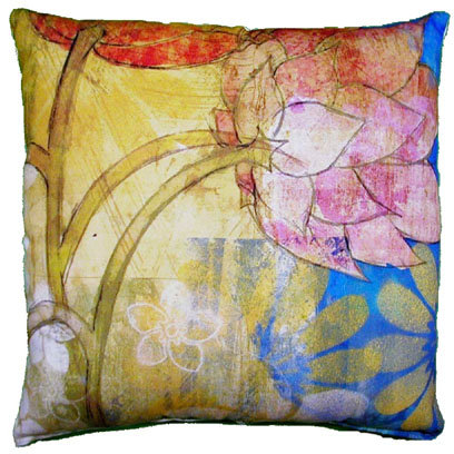 Floral Menagerie Pillow, FMLCS, 18x18