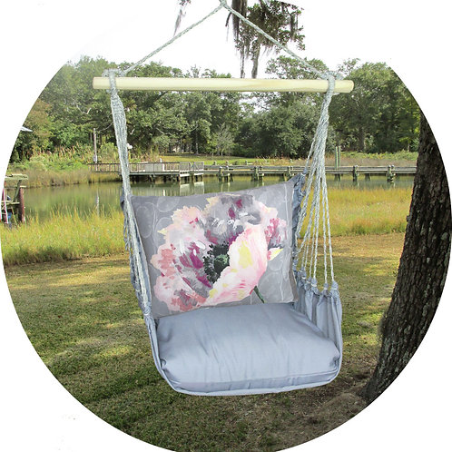 Poppy 2 Swing Set w/ Gray, GRBM804-SP
