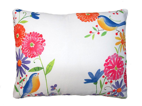 RB Pillow, Birds and Flowers, BC502LCS, 18x18