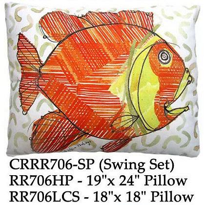 Orange Fish Pillow, RR706, 2 sizes