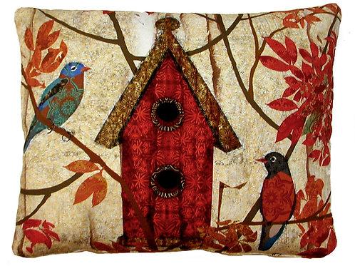 Fall Birdhouse Pillow, PGRHP, 19x24 only