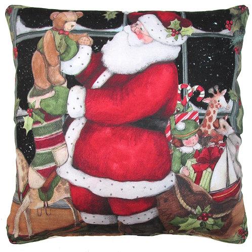 Santa Pillow 3, SWTBSLCS, 18x18
