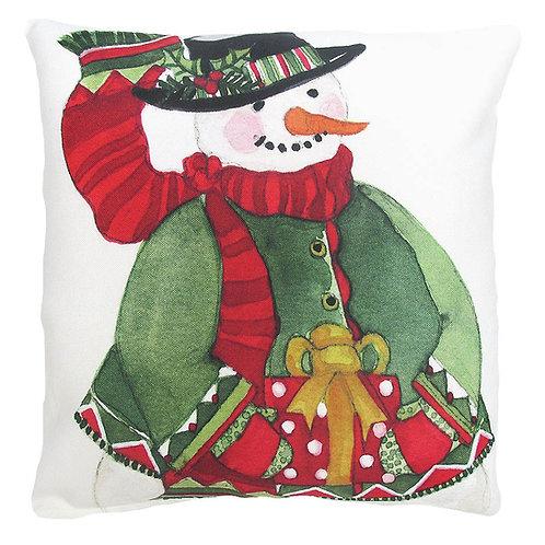 Snowman W/ Gift, SR603LCS, 18x18