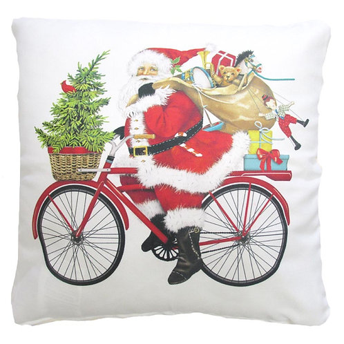 MLT714LCS, Santa on Bike, 18x18