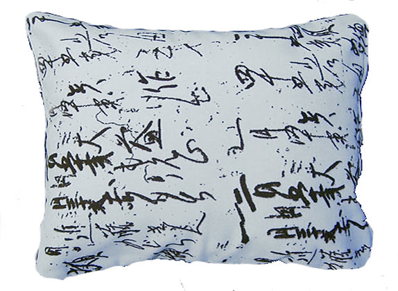 Calligraphy Pillow, CPHP (White), 19x24