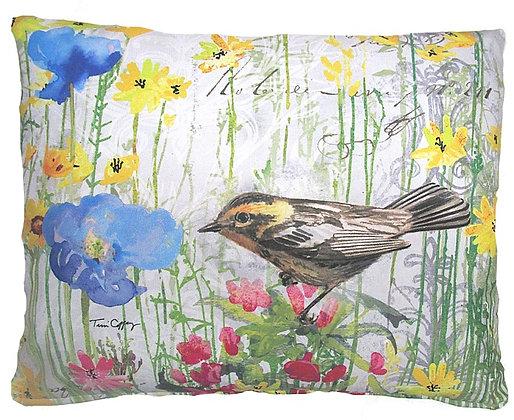 Warbler Pillow, TC201, 2 sizes
