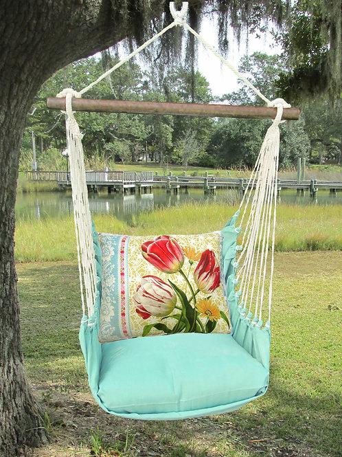 Seafoam Swing Set w/ Tulips Pillow, SFSN701-SP