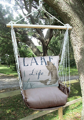 Lake Life Fish Pillow with Chocolate Swing Set, CHSW203-SP
