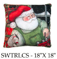Santa Pillow 2, SWSTRLCS, 18x18