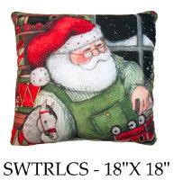 Santa Pillow 2, SWSTRLCS, 18x18