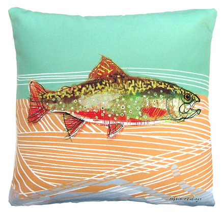 Trout 3 Pillow, RR903LCS, 18x18 only