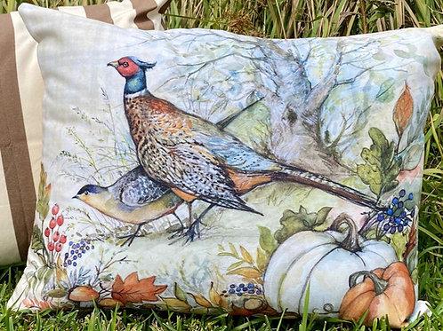 SW209HP, Pheasant & Pumpkin Pillow, 19x24 only