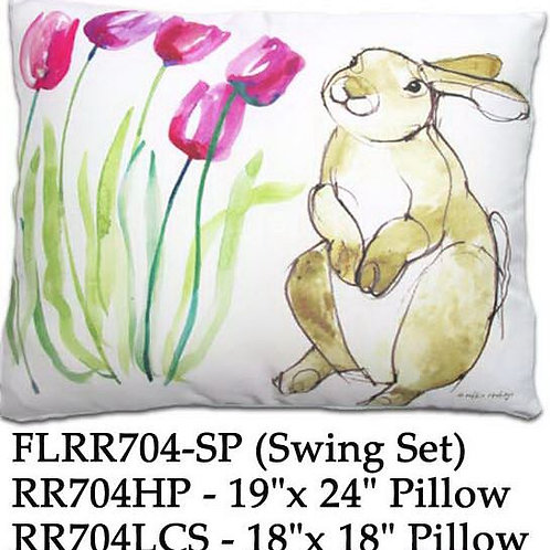 Bunny & Tulips, RR704, 2 sizes