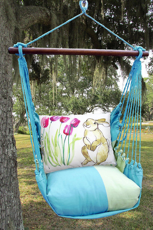 MM Swing Set w/ Bunny Pillow, MMRR704-SP