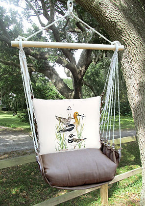 Stack of Shore Birds Pillow with Chocolate Swing Set, CHMLT901-SP