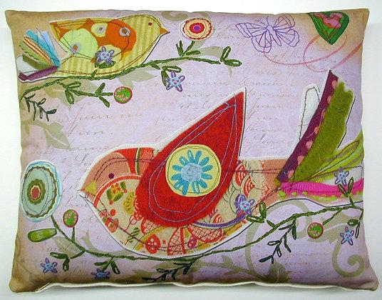Heartstrings Bird Pillow, HST3HP