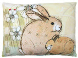 Bunnies Pillow, RRBWF, 19x24