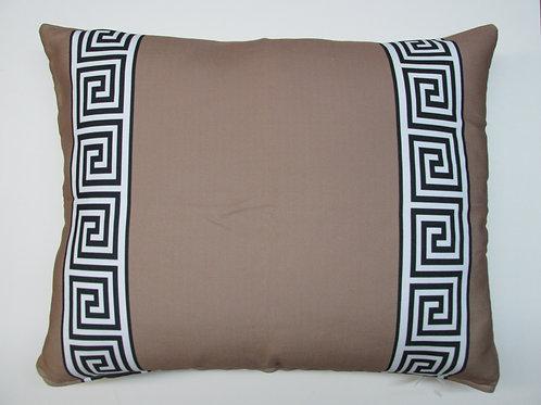 Greek Key Pillow (Brown), GKBRHP, 19x24