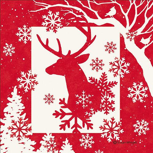 Reindeer, SW809LCS, 18x18