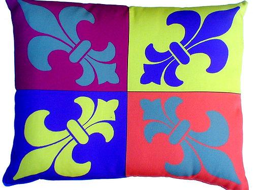 Fleur De Lis Pop Art Pillow, FQPHP, 19x24