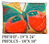 Butterfly Pillow, PBF3, 2 sizes